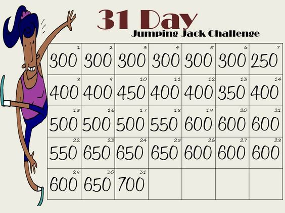 Jumping Jack Challenge!  Doing 7000 jumping jack burns enough calories to lose a pound. Spread that out over a week and lose an extra pound.