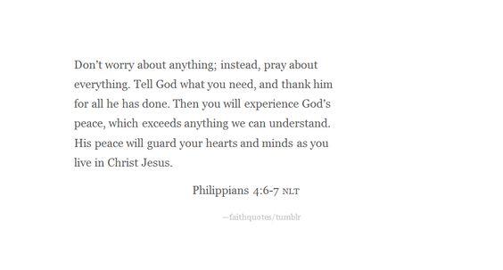 Turn to prayer.: