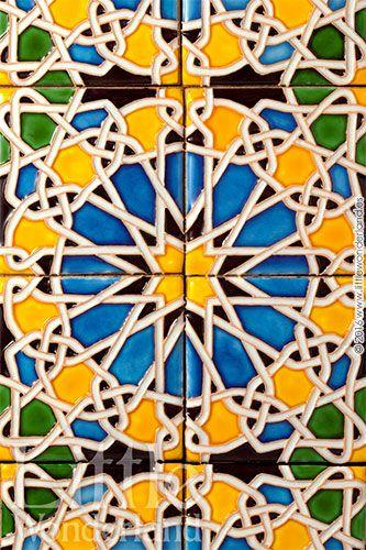 Galletas inspiradas en azulejos de estilo mudéjar   Cookies inspired by moorish style tiles