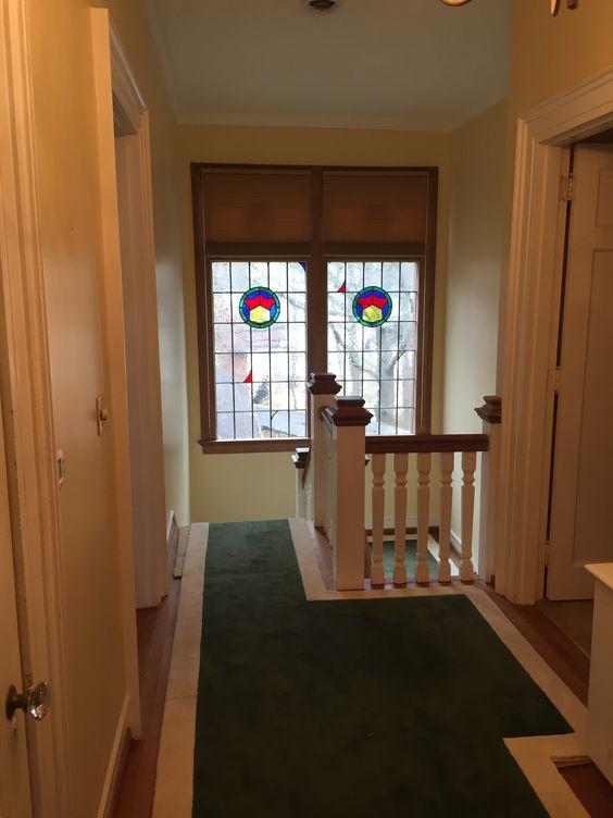 BEFORE upstairs hallway