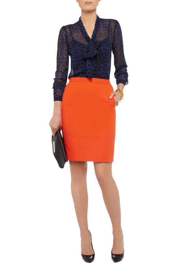 Iris & Ink Cotton-crepe pencil skirt - 0% Off Now at THE OUTNET