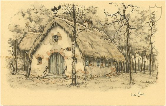 House of Frau Holle (Cinderella) - Tales of the Efteling by Martine Bijl and Anton Pieck