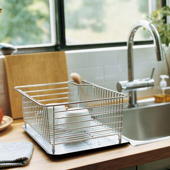無印 水切りラック お皿が立つ!! コンパクトなのに大容量