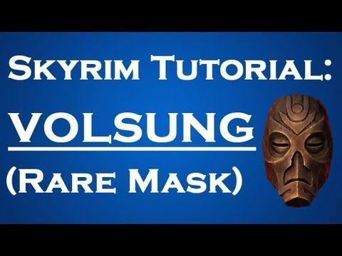 Skyrim Tutorial Volsung S Mask Youtube Skyrim Tutorial Skyrim Gif