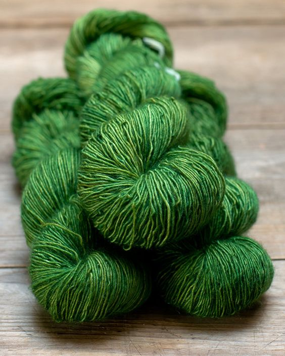 Singles Sock Moss Dark by MelliferaYarns on Etsy