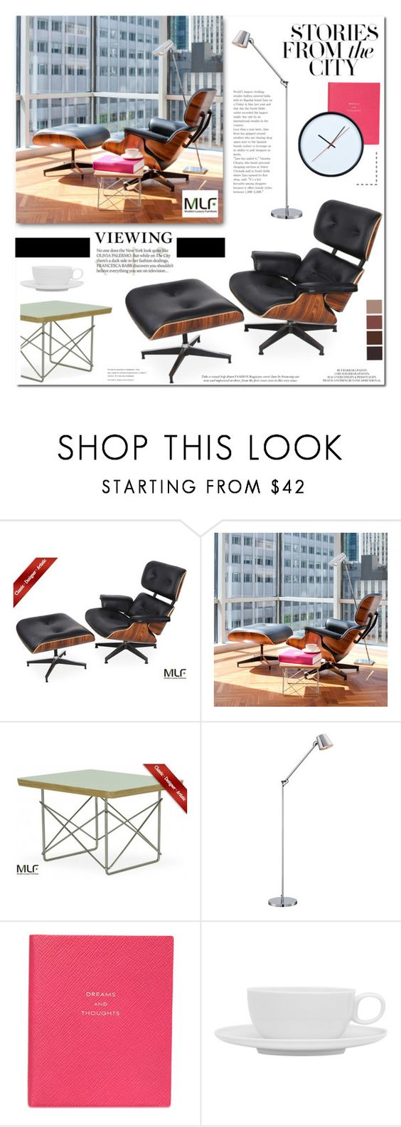 """""""MLF - Modern Luxury Furniture - 4"""" by anyasdesigns ❤ liked on Polyvore featuring interior, interiors, interior design, home, home decor, interior decorating, George Kovacs by Minka, Smythson, Red Vanilla and modern"""