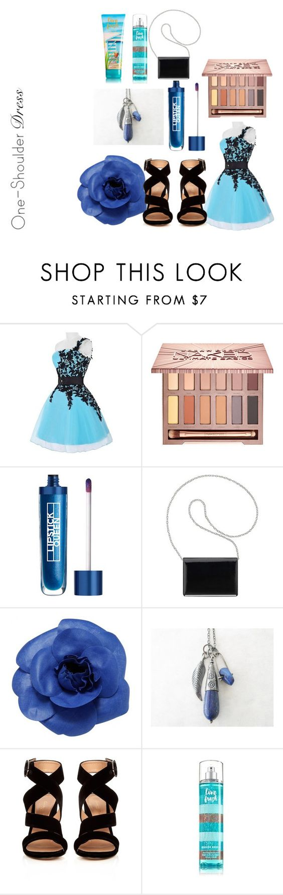 """""""blue nis the black"""" by sakakashi ❤ liked on Polyvore featuring Urban Decay, Lipstick Queen, Nine West, Chanel and Gianvito Rossi"""