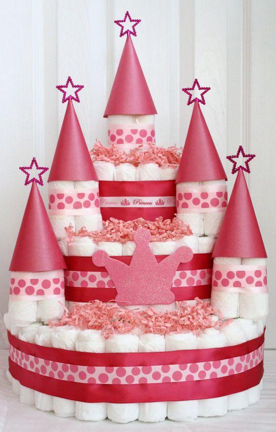 castle diaper cake @Alena Gabelchenko Gabelchenko Gabelchenko Gabelchenko Engstrom Bothum: