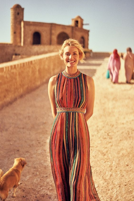 Exclusively an early preview for FE readers!!!  Anthropologie September Catalog, which will arrive in homes next week and features Amber Valetta and Constance Jablonski in Morocco. Photography: Nathan Copan. Styled by: Laura Michael. Hair: Panos Papadrianos. Makeup: Ciara O'Shea. Models: Amber Valetta, Constance Jablonski.