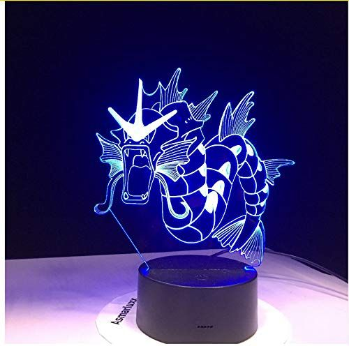 Sykdybz Gyarados Pokemon Go 3d Led Lamp 7 Color Led Night Lamps For Kids Touch Led Usb Table Lampara Lampe Baby Sleeping Nightlight