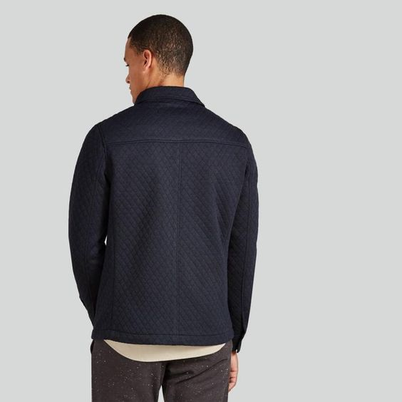 Quilted Chore Jacket in Navy | Frank & Oak