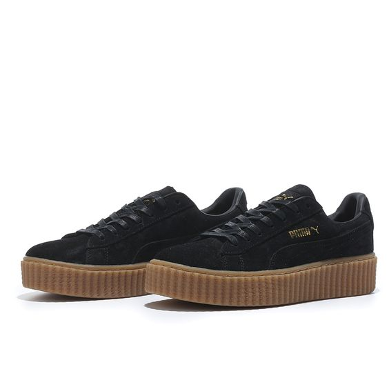Puma Shoes Black And Brown
