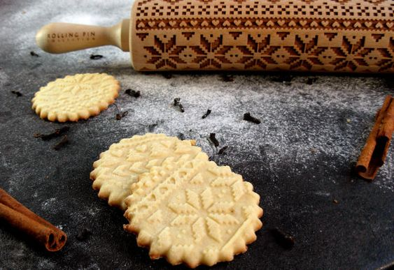 Scandinavian  Embossing rolling pin laser by RollingPinCollection