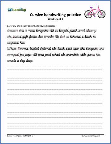 cursive handwriting worksheet on handwriting passages. Black Bedroom Furniture Sets. Home Design Ideas