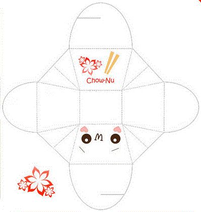 kawaii chow nu box so cute nu box envelope printables planner ...