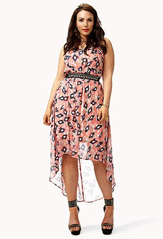 Ikat High-Low Dress ----- Now this high-low dress I like!