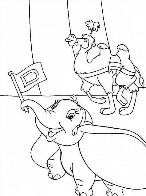 Disegni Da Colorare Per Bambini Gratis Disney.Bumbo E Il Cammello Al Circo Disegni Per Bambini Disegni Da