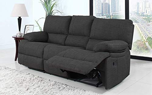 Enjoy Exclusive For Divano Roma Furniture Classic Traditional Dark Grey Fabric Oversize Recliner Chair Love Seat Sofa 3 Seater Online Favoritetopfashion Recliner Chair Love Seat Sofa