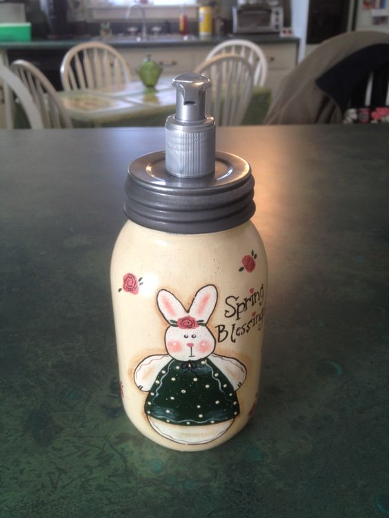 mason jar lotion holder
