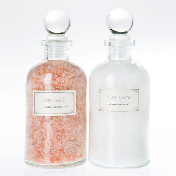 Mini Set de regalo de dúo de sales de baño: Color de rosa del Himalaya, detox epsom, Vegano, boticario, día de la madre de MulleinandSparrow en Etsy https://www.etsy.com/mx/listing/171951505/mini-set-de-regalo-de-duo-de-sales-de