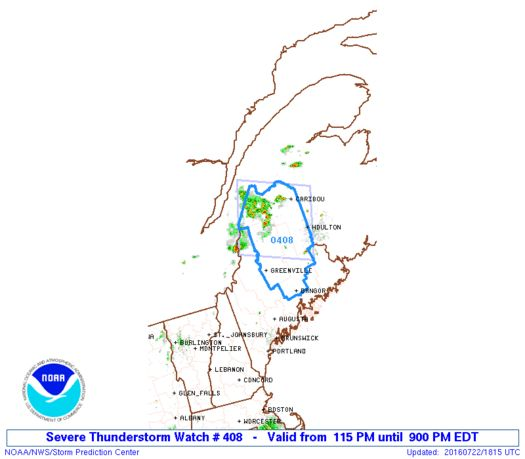 SPC Severe Thunderstorm Watch 408 Status Reports - http://blog.clairepeetz.com/spc-severe-thunderstorm-watch-408-status-reports/