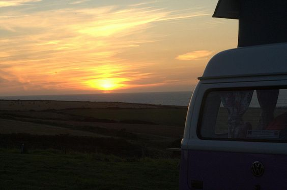 VW Camper Ronnie  on a Wales Coast RoadTrip