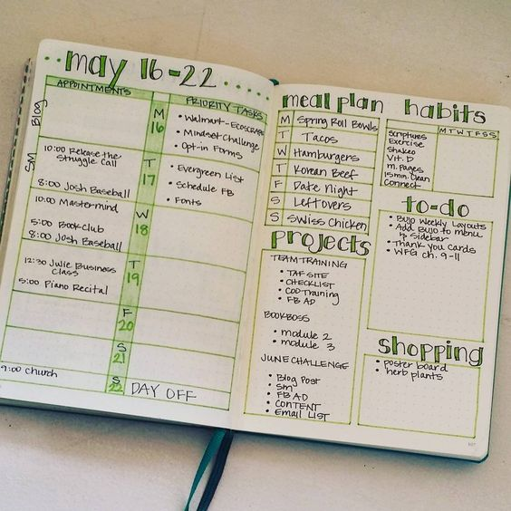 My weekly layout keeps me focused and is really the heart of my #bulletjournal system.: