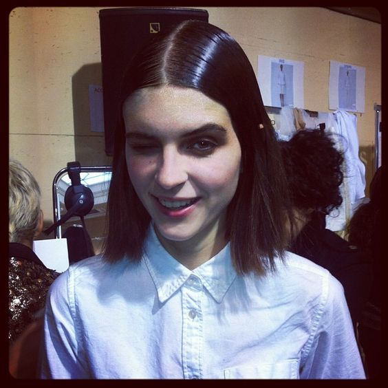 i-D coverstar Kel Markey cracks the wink AND the smile backstage at Sacai