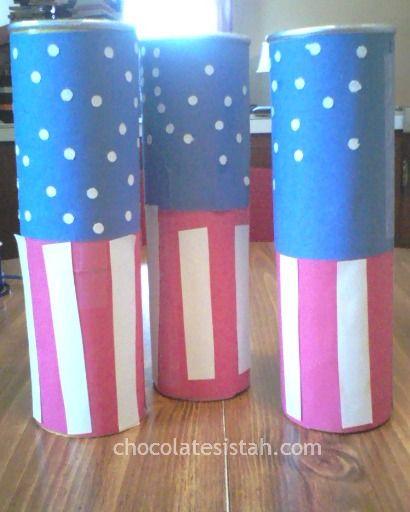 DIY 4th of July Confetti Launcher Kids Craft