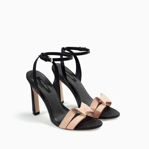 HIGH-HEELED SANDAL WITH ANKLE STRAP from Zara