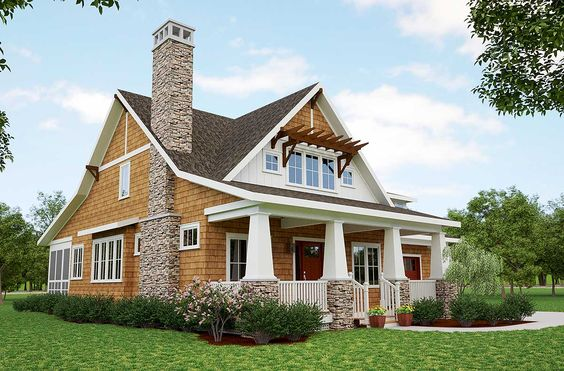 Plan 18266be storybook bungalow with screened porch cottages bonus rooms and photo galleries for Storybook craftsman house plans