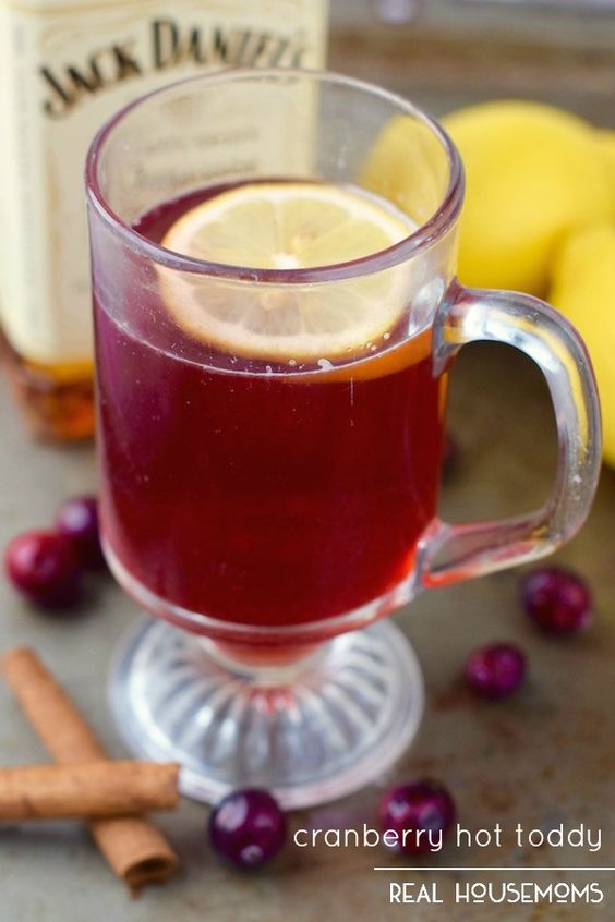 Hot toddy, Winter drinks and Cranberries on Pinterest