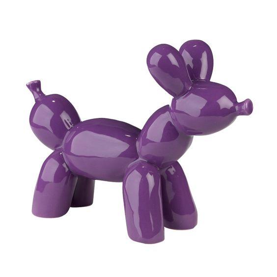 Chien décoratif en polyrésine violet Violet - Bubble - Les objets de déco enfants - Décoration pour enfant - Toute la déco - Décoration d'intérieur - Alinéa