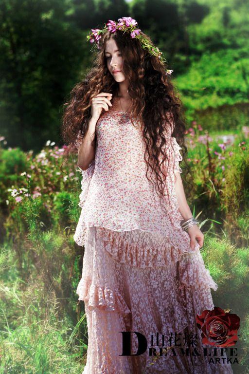Artka Lee long hair wreath lace: