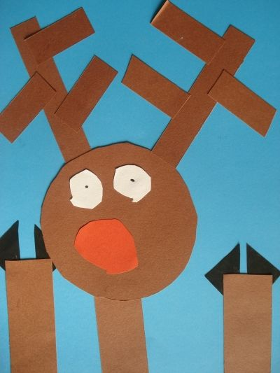 Reindeer window and construction on pinterest for Holiday crafts with construction paper