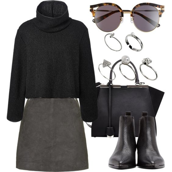 Untitled #2032 by anniesclothes on Polyvore featuring polyvore, fashion, style, Clover Canyon, Topshop, Acne Studios, Fendi, ASOS and Gentle Monster