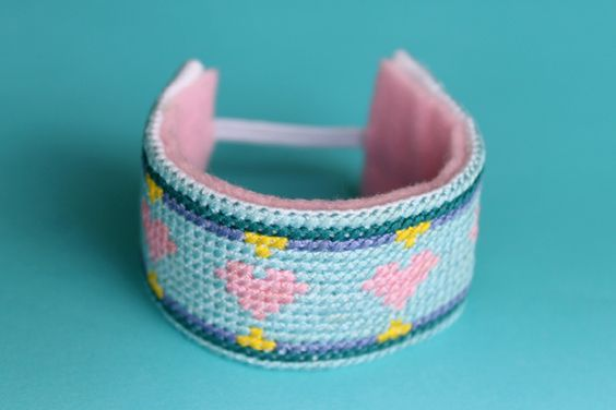 DIY - Cross Stitch Bracelet // Wrapped Up in Rainbows by Caught On A Whim, via Flickr: