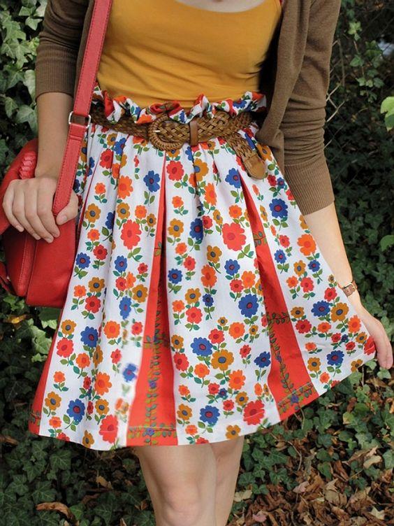 Nähanleitung: Gerafften Taillenrock nähen / diy sewing tutorial: heaped skirt via DaWanda.com
