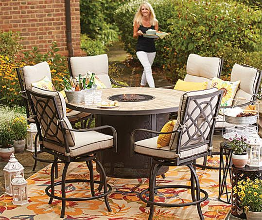 Pin On Fire Pit Dining Set