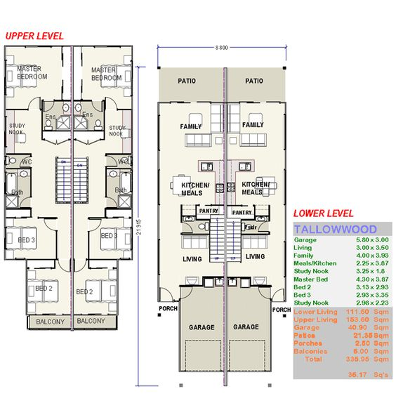 Tallowwood Duple House Plans FREE Custom House Plans Prices