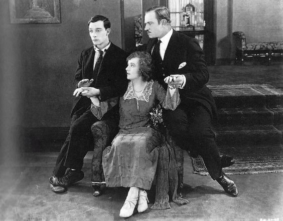 Those feet!!  Buster Keaton, Margaret Leahy and Wallace Beery - in Three Ages - 1923