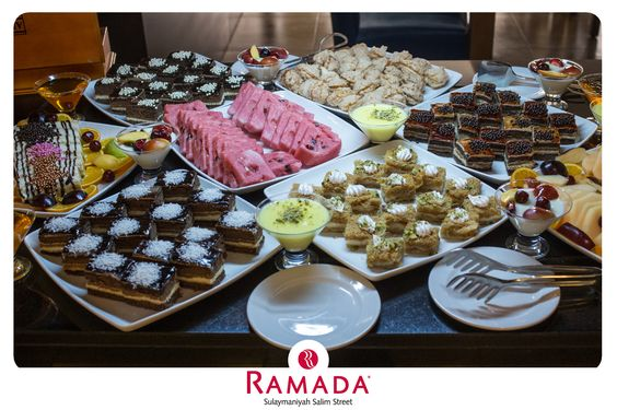 Ramada Hotel provides the table of generosity during Ramadan, the month of generosity. Endless variety of oriental and occidental food at the open buffet, daily for Iftar.  ‪#‎Ramada‬ ‪#‎Hotel‬ ‪#‎Sulaymaniyah‬ ‪#‎OpenBuffet‬ ‪#‎food‬ #desserts