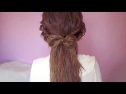 Fine Cute And Easy Hair Bow Tutorial Youtube Hairstyles Pinterest Hairstyles For Women Draintrainus