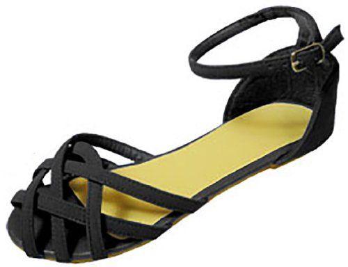 Womens Nubuck Multi Strap Cage Front Sandals Flat Shoes (7/8, Black 6332) Anig http://www.amazon.com/dp/B00HET53J8/ref=cm_sw_r_pi_dp_LdaJtb1JD4P08YHZ