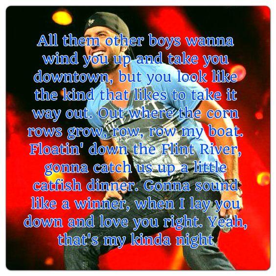 Luke Bryan - That's My Kind Of Night Lyrics   MetroLyrics
