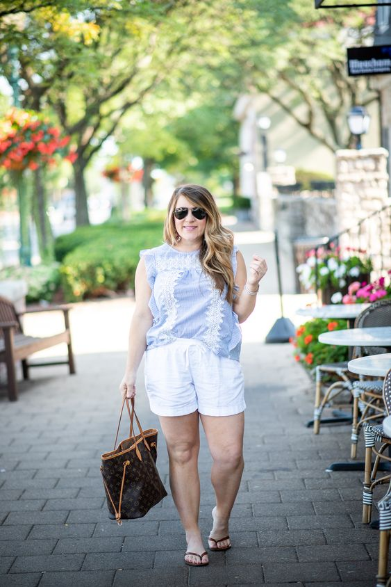 White Shorts Post Labor Day | Coffee Beans and Bobby Pins