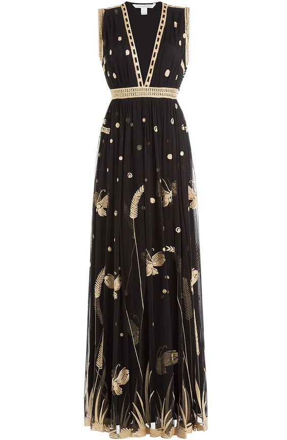 DIANE VON FURSTENBERG Embroidered Maxi Dress. #dianevonfurstenberg #cloth #maxi dresses