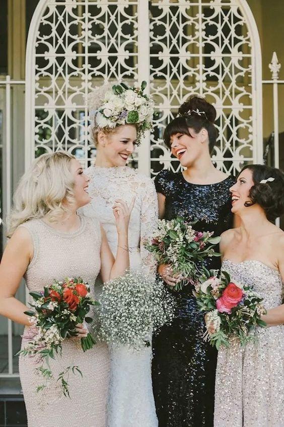 Mismatched Bridesmaid Dresses for Your Modern Wedding | fabmood.com