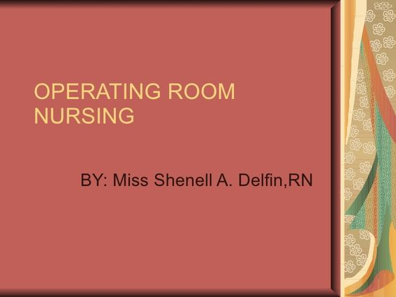 Operating Room Nursing