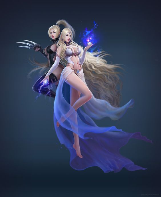 Twin beauty by ruoxin zhang | Fantasy | 2D | CGSociety